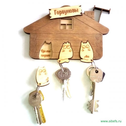 Ключница с котятами (3&nbspключа)
