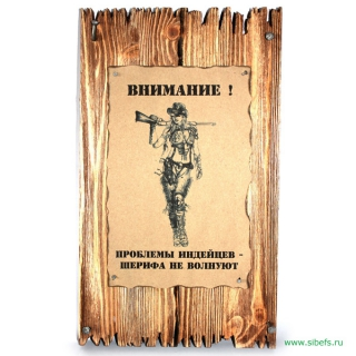"Плакетка ""Проблемы индейцев…"""