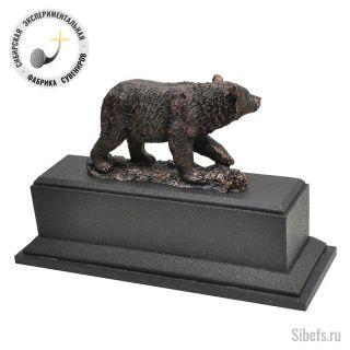 Медведь. Часы настольные